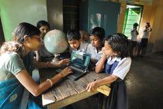 utbildning lantliga india Arkivfoton
