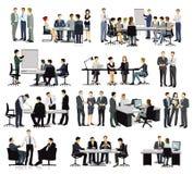 Utbildning, möte och diskussion i gruppen royaltyfri illustrationer