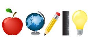 utbildning objects vektorn stock illustrationer