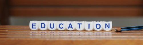 Utbildning och blyertspenna Royaltyfri Foto