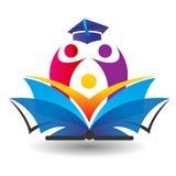 Utbildning och bok- och barnlogo Royaltyfri Bild