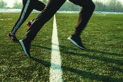 Utbildning på sparad fotboll royaltyfri bild