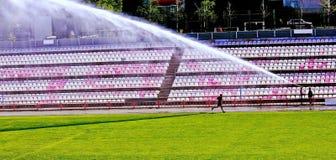Utbildning på stadion Fotografering för Bildbyråer