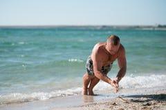 Utbildning på stranden Fotografering för Bildbyråer
