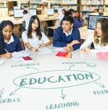 Utbildning som lär akademikerbegrepp arkivbild