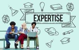 Utbildning som lär begrepp för idéstudiekunskap arkivfoton