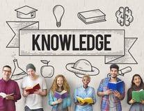 Utbildning som lär begrepp för idéstudiekunskap royaltyfria bilder