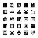 Utbildnings- och skolavektorsymboler 4 Arkivbilder