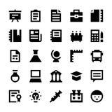 Utbildnings- och skolavektorsymboler 3 Arkivfoto