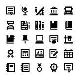 Utbildnings- och skolavektorsymboler 9 Arkivbilder