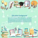 Utbildningsbakgrund tillbaka till skolauniversitethögskolan royaltyfri illustrationer