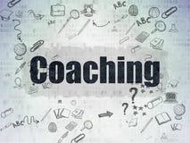 Utbildningsbegrepp: Coachning på Digital papper royaltyfri foto