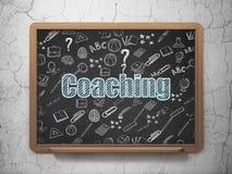 Utbildningsbegrepp: Coachning på skolförvaltning Royaltyfri Fotografi