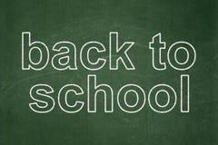 Utbildningsbegrepp: Dra tillbaka till skolan på den svart tavlan Arkivbilder
