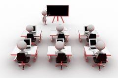 utbildningsbegrepp för man 3d Royaltyfri Bild