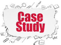 Utbildningsbegrepp: Fallstudie på sönderrivet papper Arkivfoton