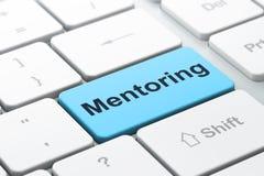 Utbildningsbegrepp: Mentoring på datortangentbordet Royaltyfria Foton