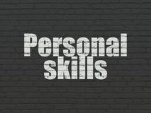 Utbildningsbegrepp: Personlig expertis på väggbakgrund royaltyfri fotografi