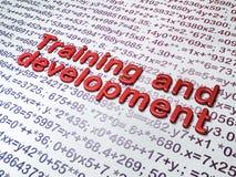 Utbildningsbegrepp:  Utbildning och utveckling på utbildningsbakgrund Arkivbild