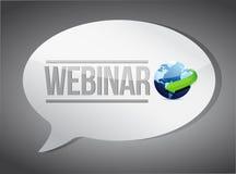 Utbildningsbegrepp: Webinar meddelande Arkivbild
