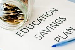 Utbildningsbesparingplan Arkivbild