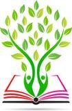 Utbildningsbokträd stock illustrationer