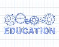 Utbildningsgrafpapper stock illustrationer