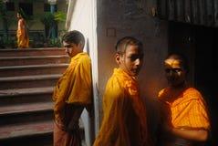 utbildningsindia klosterbroder Arkivfoton