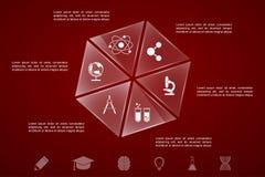 UtbildningsInfographic mall stock illustrationer