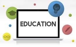 Utbildningskunskapsvishet som lär skolabegrepp vektor illustrationer
