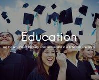 Utbildningskunskapsvishet som lär studera begrepp royaltyfri fotografi