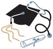 utbildningsläkarundersökning stock illustrationer