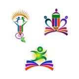 Utbildningslogo royaltyfri illustrationer