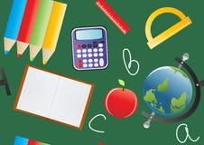 utbildningsobjekt vektor illustrationer