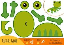 Utbildningspapperslek för barn, ödla vektor illustrationer