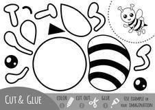 Utbildningspapperslek för barn, bi vektor illustrationer