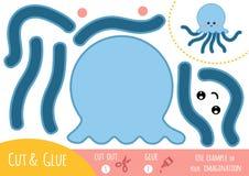 Utbildningspapperslek för barn, bläckfisk stock illustrationer