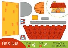 Utbildningspapperslek för barn, hus stock illustrationer