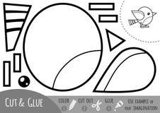 Utbildningspapperslek för barn, liten fågel vektor illustrationer