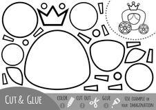 Utbildningspapperslek för barn, vagn vektor illustrationer