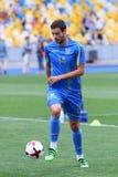 Utbildningsperiod av Ukraina det nationella fotbollslaget i Kyiv Fotografering för Bildbyråer