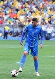 Utbildningsperiod av Ukraina det nationella fotbollslaget i Kyiv Arkivbild