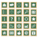utbildningssymboler stock illustrationer