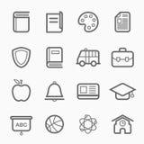 Utbildningssymbollinje symbol stock illustrationer