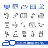 Utbildningssymbols//linje serie Royaltyfri Foto