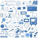 utbildningssymbolsset stock illustrationer