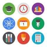 Utbildningssymbolsuppsättning Arkivfoto