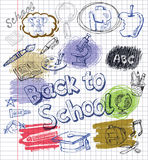 Utbildningssymbolsuppsättning Arkivbilder