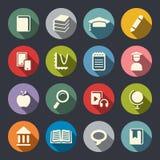 Utbildningstemasymboler. Lägenhet vektor illustrationer