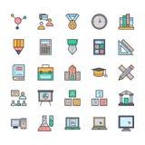 Utbildningsvektorsymboler 2 Arkivbild